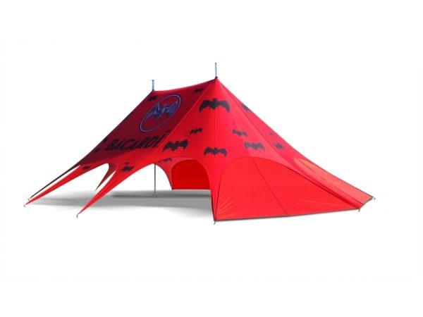 namioty gwiazda, namioty reklamowe, namioty plenerowe