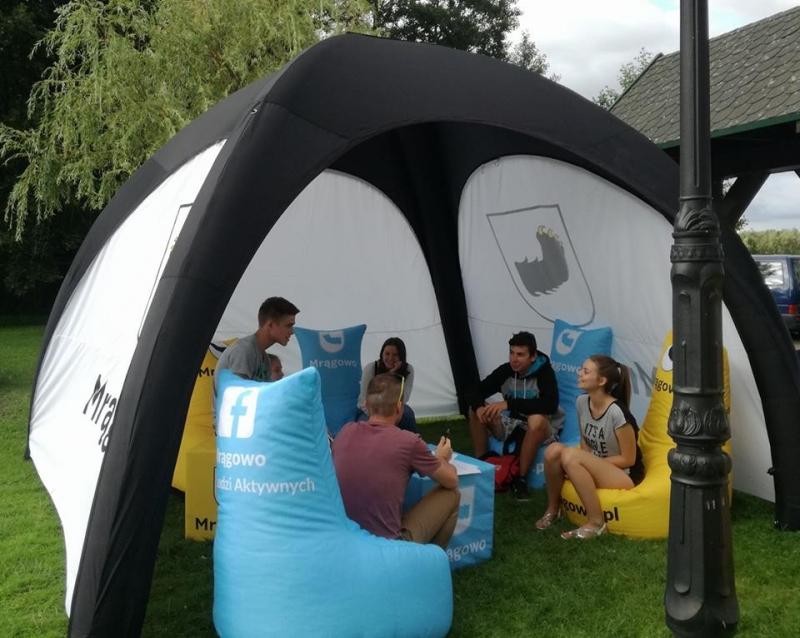 namiot stałociśnieniowy, namiot pneumatyczny, namiot reklamowy