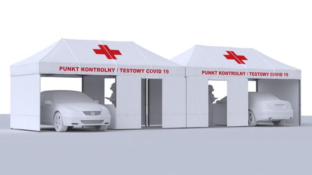 namiot medyczny drive thru